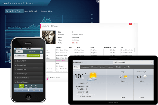 Screenshot von Syncfusion Essential Studio Enterprise