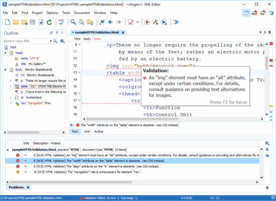 Screenshot von Oxygen XML Developer Enterprise
