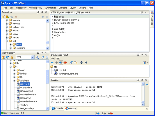 Screenshot of Syncro SVN Client