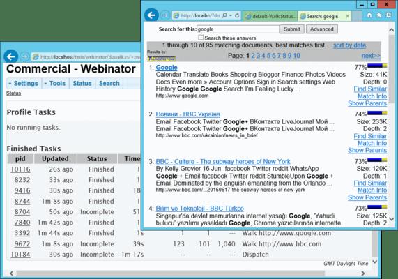 Webinator 屏幕截图
