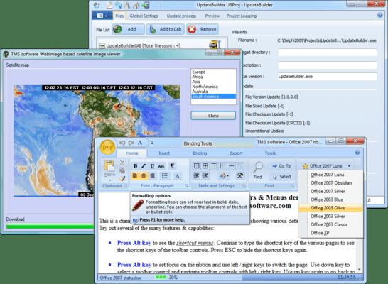 TMS Component Pack(英語版) のスクリーンショット