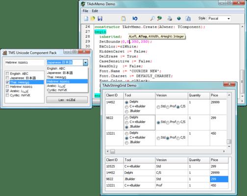 TMS Unicode Component Pack(英語版) のスクリーンショット