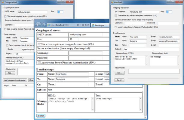 Screenshot of AddEmail ActiveX