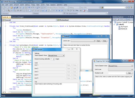 Screenshot of AddTapi.NET