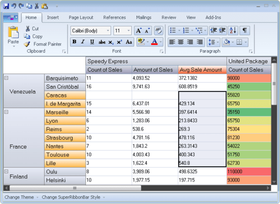 Screenshot of VIBlend Controls for WinForms