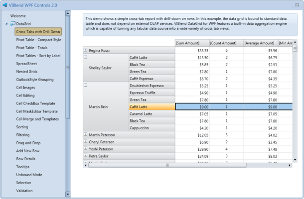 About VIBlend WPF Data Grid