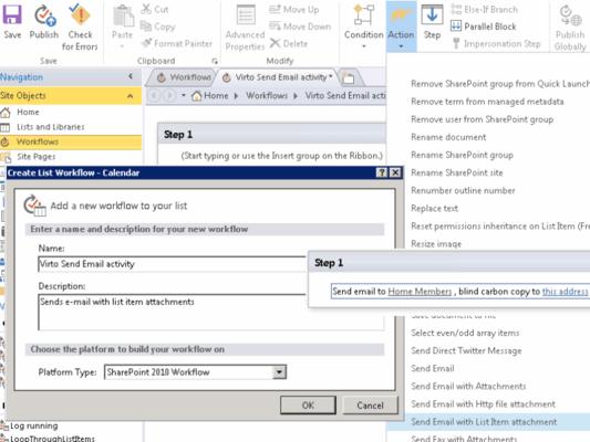 Virto Workflow Activities Kit (英語版) のスクリーンショット