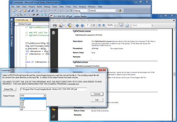 Screenshot of PDF Custom SDK