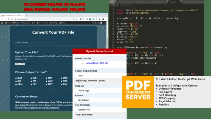 Screenshot of PDF Conversion Server