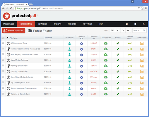 Screenshot of Protectedpdf