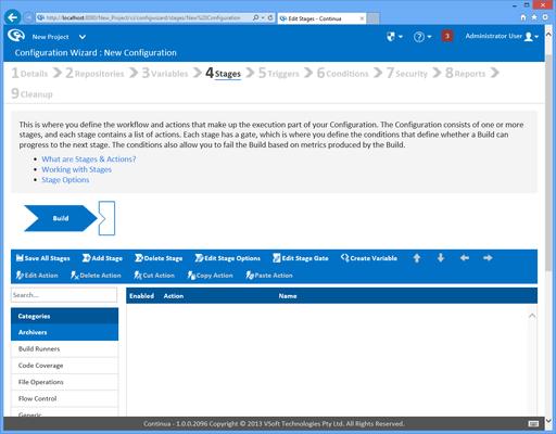Screenshot of Continua CI