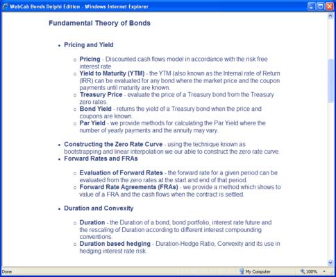 WebCab Bonds for Delphi (英語版) のスクリーンショット