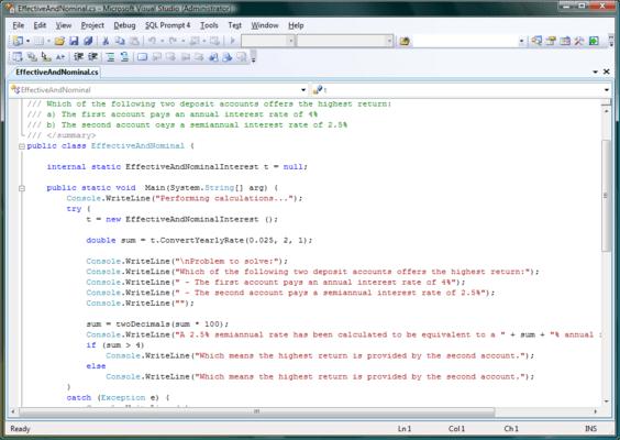 Screenshot of WebCab Bonds for .NET