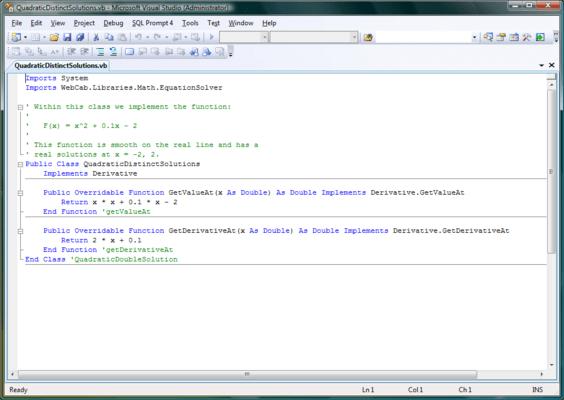 WebCab Functions for .NET (英語版) のスクリーンショット