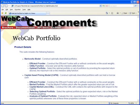 WebCab Portfolio for Delphi
