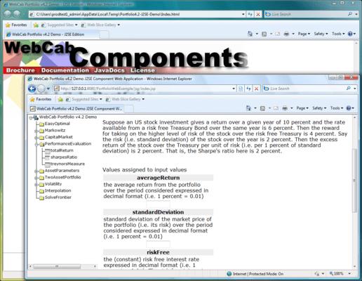 Screenshot of WebCab Portfolio (J2EE Edition)
