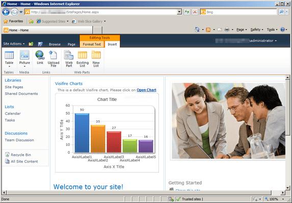 Screenshot of Visifire for SharePoint