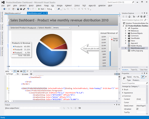 Screenshot of Visifire for WPF