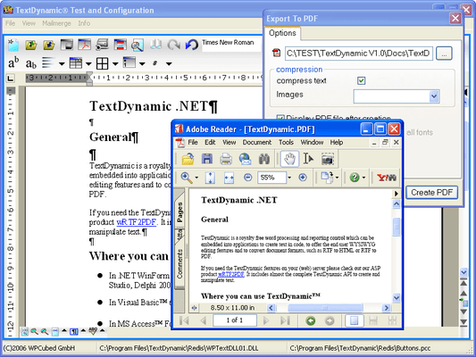 Screenshot of TextDynamic