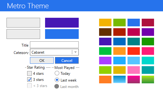Screenshot of Xceed Pro Themes for WPF