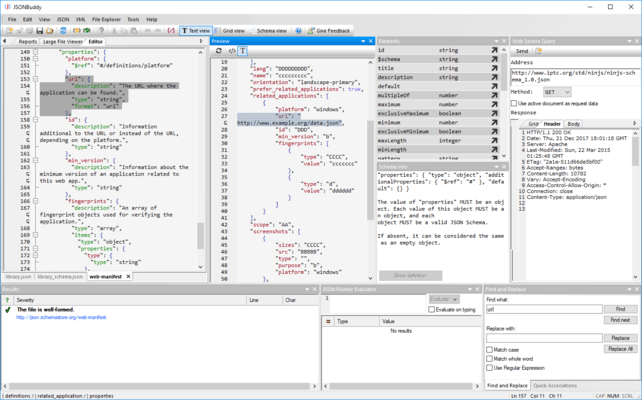 Screenshot of JSONBuddy