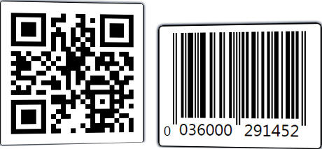 <strong>Vector-based 2D and linear bar codes.</strong><br /><br />