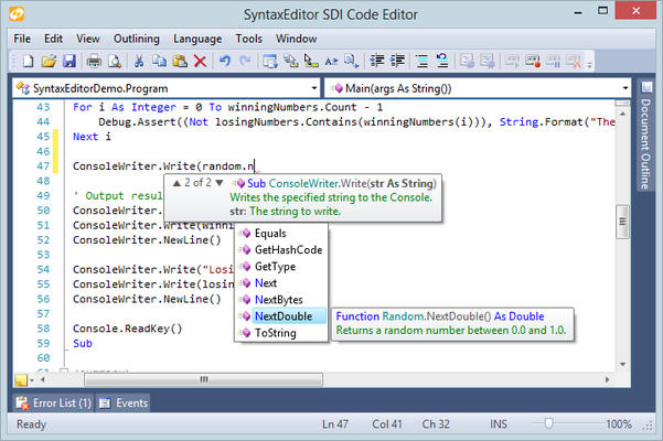Pre-built advanced language implementations for SyntaxEditor.