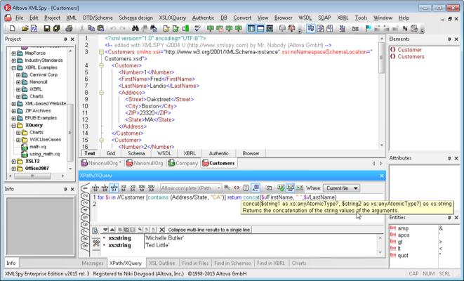 <strong>Advanced XSLT, XPath, and XQuery editors and debuggers.</strong><br /><br />