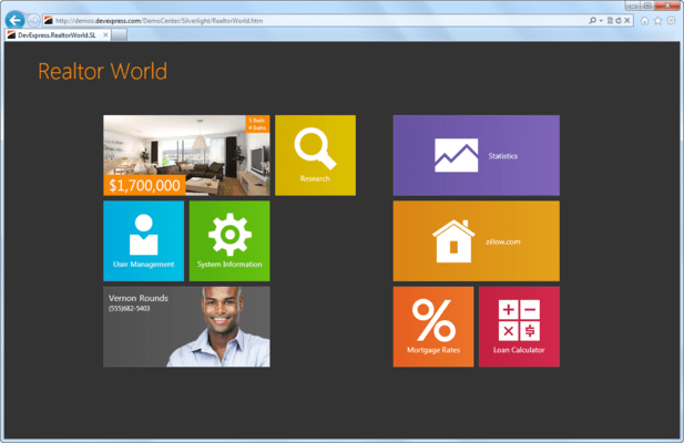 <strong>Windows 8® inspired tile and form layout tools.</strong><br /><br />