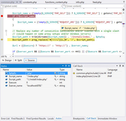 <strong>Debug PHP code in Visual Studio.</strong><br /><br />