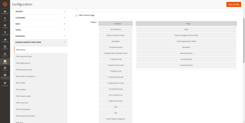 Includes drag and drop page builder.