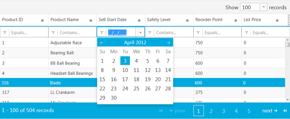 <strong>Great performance with a fast jQuery grid.</strong><br /><br />