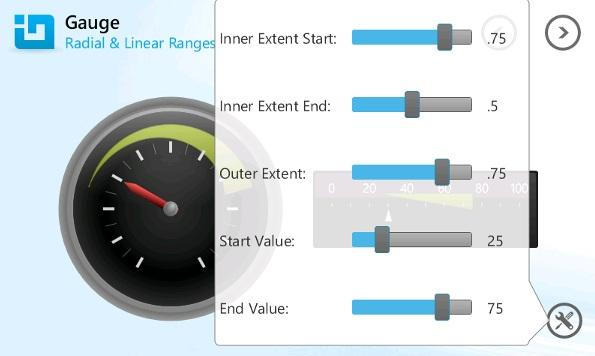 <strong>Create engaging gauges on-the-go.</strong><br /><br />