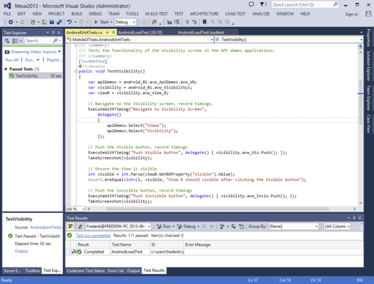 <strong>Brings mobile testing to Visual Studio, MTM and TFS.</strong><br /><br />