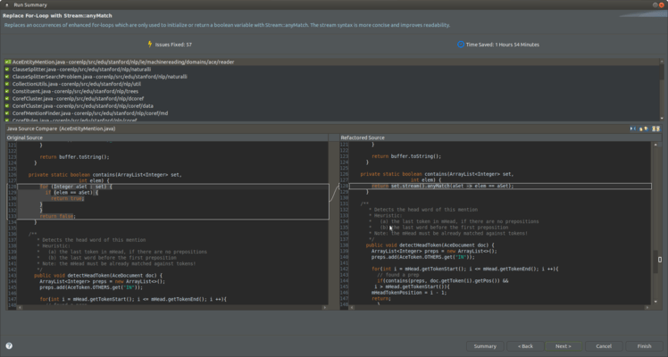 <strong>Preview of changes with the Eclipse plugin.</strong><br /><br />