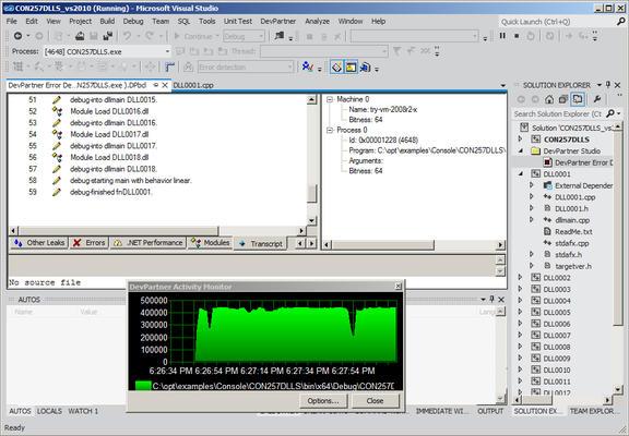 Runtime error detection, performance & coverage analysis.