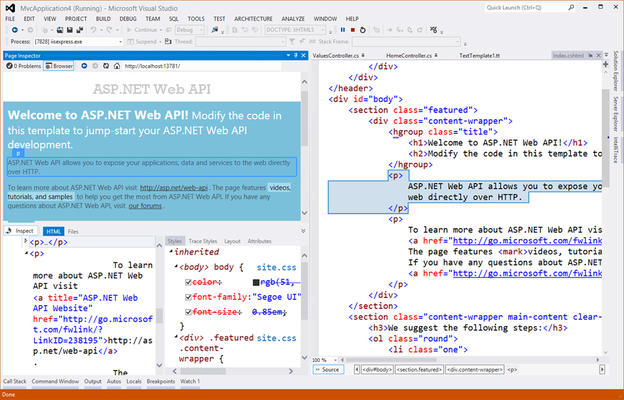 Image result for welcome to ASP.NET WEB API MODIFY THE CODE