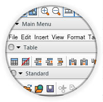 <strong>Command bars that mimic the logic of Office 2003 and VS.</strong><br /><br />
