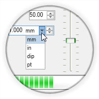 <strong>UI widgets to show range and current value.</strong><br /><br />