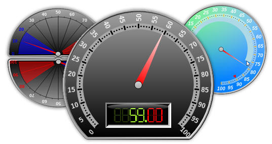 <strong>NOV Gauge for .NET works for WinForms, WPF and Silverlight.</strong><br /><br />