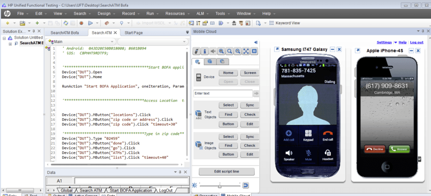 <strong>Execute mobile monitoring using real devices.</strong><br /><br />