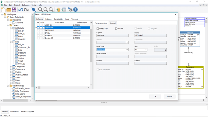 Intuitive UI provides an easy way to visualize the data model and populate databases.