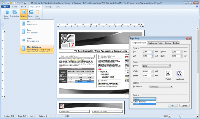 merge word documents into pdf with different headers