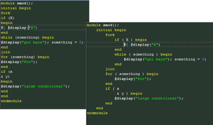 System Verilog Beautifier and Python Beautifier