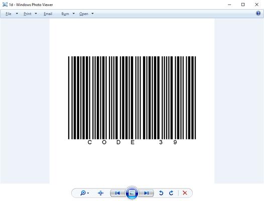 Write 1D Barcodes