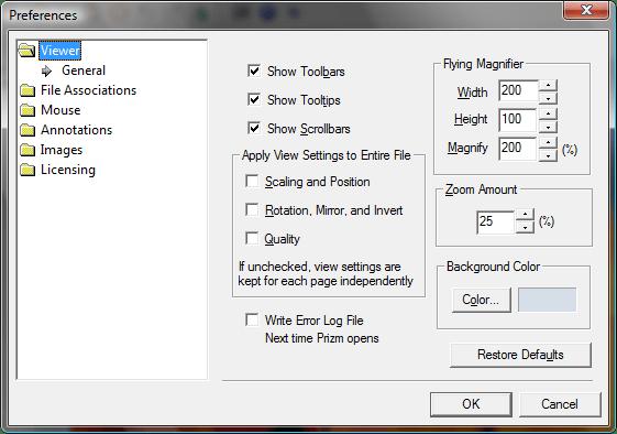 Prizm Viewer (英語版) のスクリーンショット
