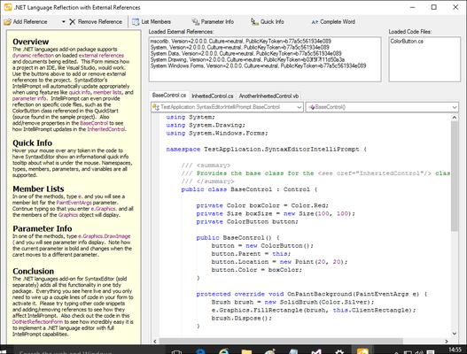 Editing C# code