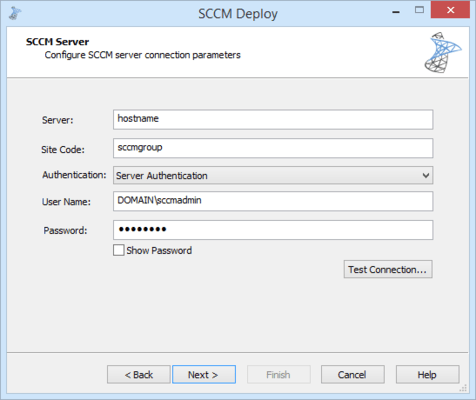 Advanced Installer Architect SCCM Deploy