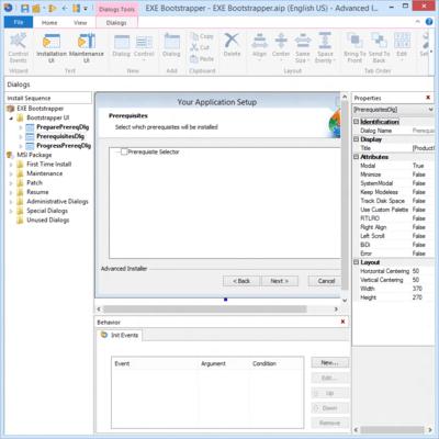 Advanced Installer Enterprise Bootstrapper UI