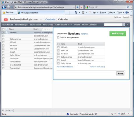 Screenshot of WebMail Pro for ASP.NET